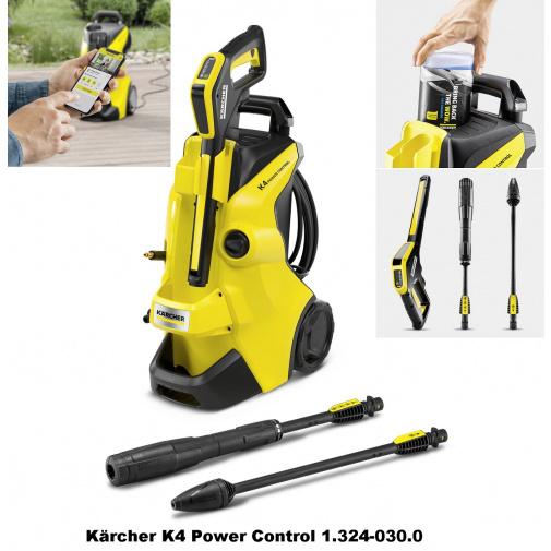 Kärcher K4 Power Control 1.324-030.0 Tlaková myčka obsahuje mobilní aplikaci Kärcher