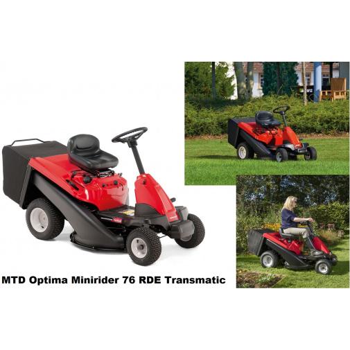 MTD Optima Minirider 76 RDE Transmatic + AKCE% a Zprovoznění, Zahradní travní rider s elektrostartem