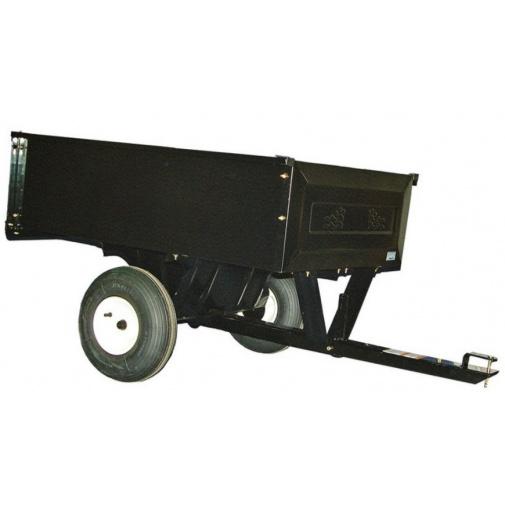 Agri Fab AF 303 + AKCE, Tažený vozík se sklápěcí korbou za travní traktor (nosnost 220kg)