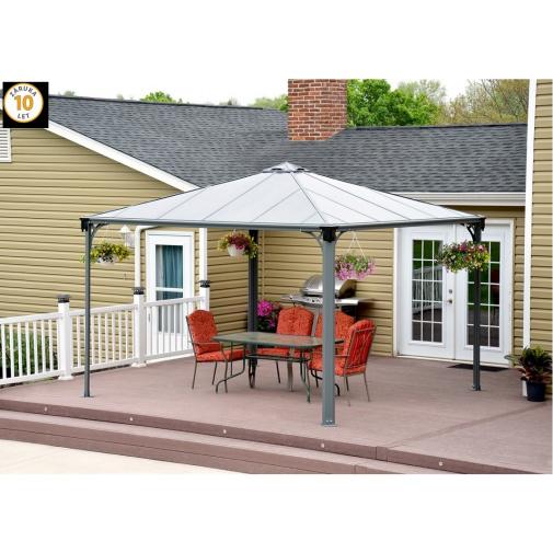 Palram Palermo 3600 + AKCE% a Záruka+, Zahradní hliníkový altán s polykarbonátovou střechou /702780/