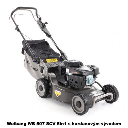 Weibang WB 507 SCV 5in1 BL + AKCE% Benzínová sekačka s regulací pojezdu, kardanový převod