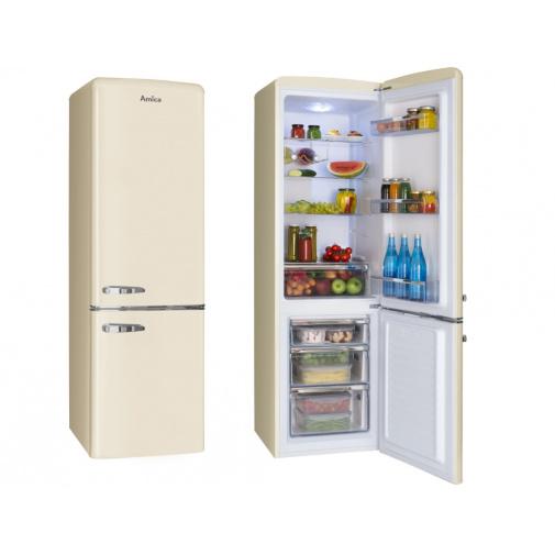 Amica KGCR 387100 B Retro kombinovaná chladnička béžová, A++,181cm