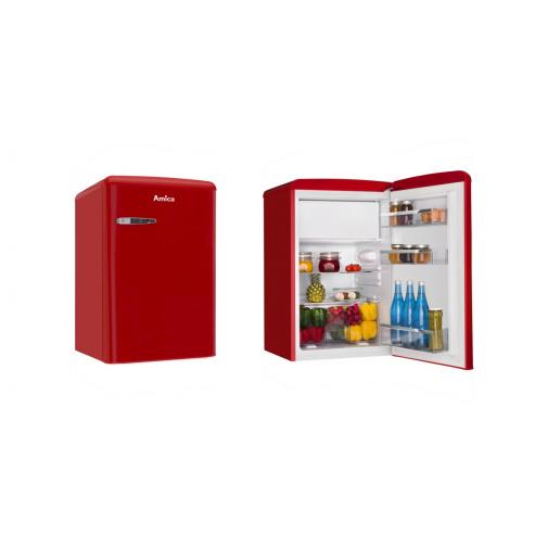 Amica VT 862 AR červená Retro jednodveřová chladnička 84cm