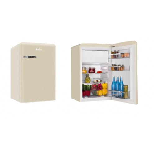Amica VT 862 AM béžová Retro jednodveřová chladnička, A++, 86cm