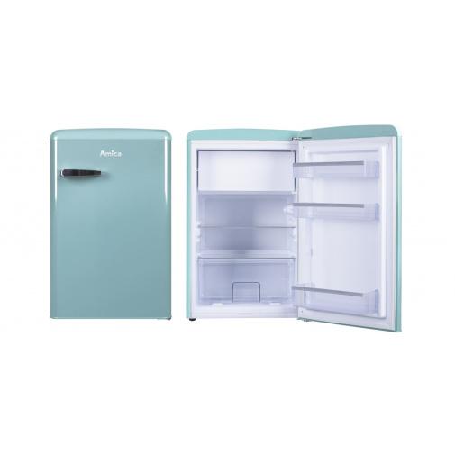 Amica VT 862 AL modrá Retro jednodveřová chladnička, A++, 86cm