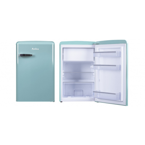 Amica VT 862 AL modrá RETRO jednodveřová lednice 86cm
