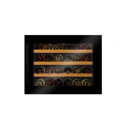 Amica WBA 2455 DB + AKCE, Vestavná vinotéka jednozónová černá s kapacitou 24 lahví