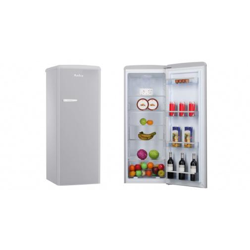 Amica VJ 1442 G šedá RETRO jednodveřová lednice 144cm