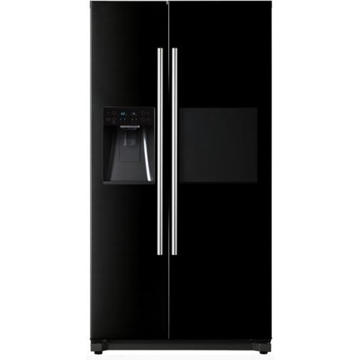 Daewoo FRN Q39F2B Americká lednice černá s minibarem A++,No Frost + DÁREK