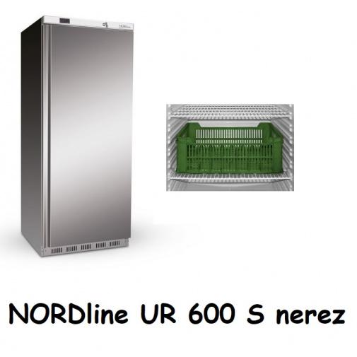 NORDline UR 600 S nerez + AKCE DÁREK a Záruka+, Profi lednice nerez na přepravky