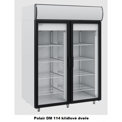 Polair DM 114 + DÁREK, Chladící vitrína prosklená dvoudvěřová, křídlové dveře, 1400 litrů