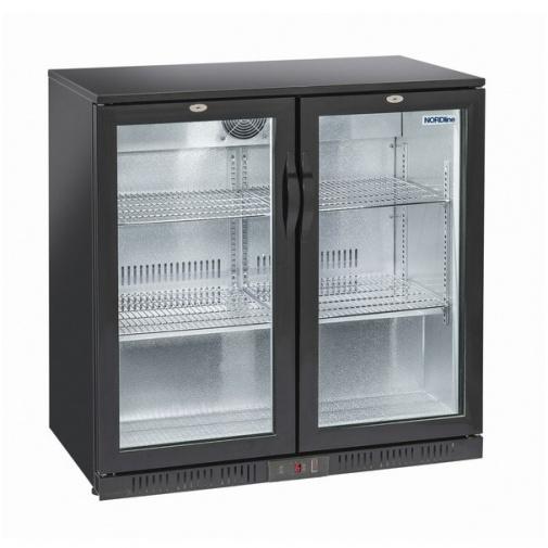 NORDline BAR 286 HG + DÁREK, Minibar s dvěmi prosklenými křídlovými dveřmi