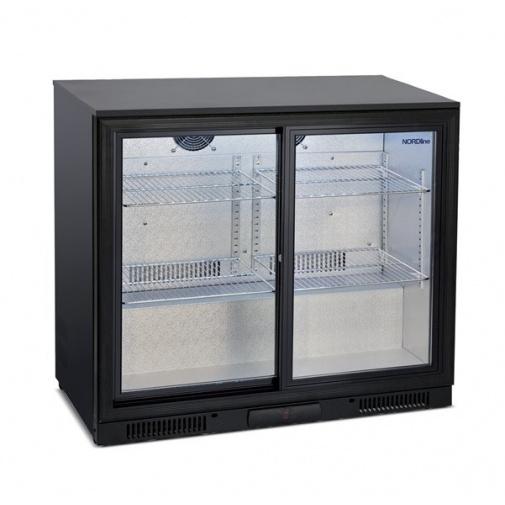 NORDline BAR 286 SG + AKCE Dárek a Záruka+, Minibar s dvěmi prosklenými posuvnými dveřmi