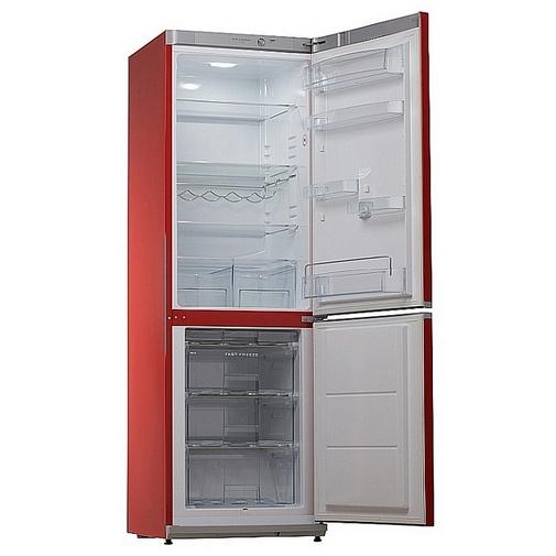 Snaige RF34SM-S1RA21 ICE LOGIC + AKCE, Kombinovaná lednice červená, A+, 185cm