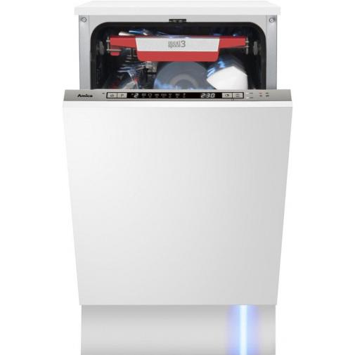 Amica MI 427 CD Vestavná myčka nádobí 45cm, A++/A/A, třetí koš na příbor