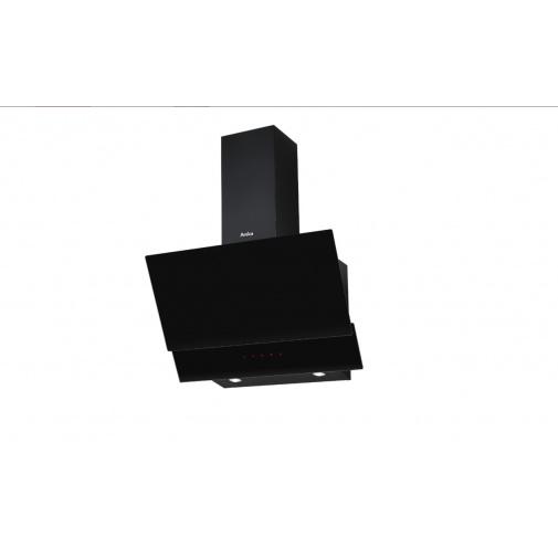 Amica SKZ 65 BB Komínový odsavač par zkosený 60cm, LED osvětlení, černé sklo