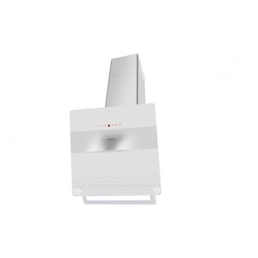 Amica SKZ 65 XWG Komínový odsavač par zkosený X-type 60cm, LED osvětlení, bílé sklo