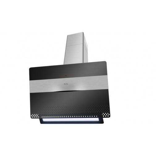 Amica SKZ 95 XBG X-type + AKCE, Komínová digestoř zkosená 90cm, LED osvětlení, černé sklo
