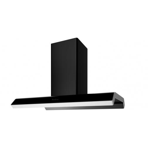 Amica OWC IN 900 BI + AKCE%, Designová ostrůvková digestoř 90cm, LED osvětlení, černá / hliník