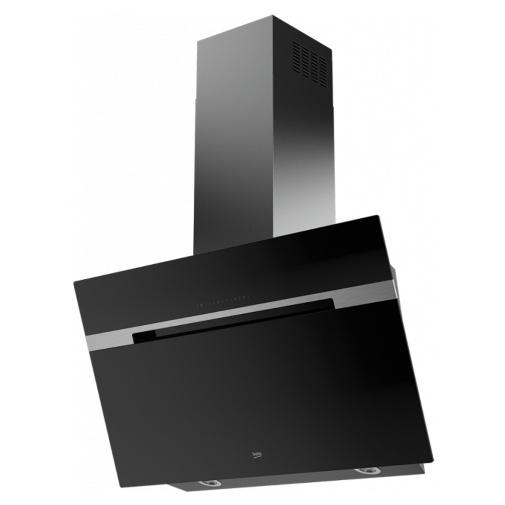 Beko HCA92741B Nástěnná šikmá digestoř 90cm, černá/černé sklo, 757m3/h