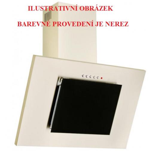 Cata Empire KD 331050 + AKCE, Komínová digestoř šikmá 50cm, nerez/černé sklo