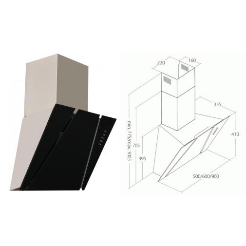 Cata Empire KD 333050 + Dárek%, Digestoř komínová 50cm