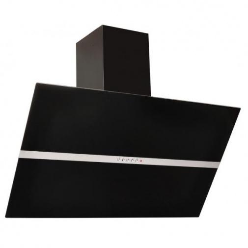 Cata Empire KD 319090 + AKCE, Komínová digestoř šikmá 90cm, černá/černé sklo, 405m3/hod