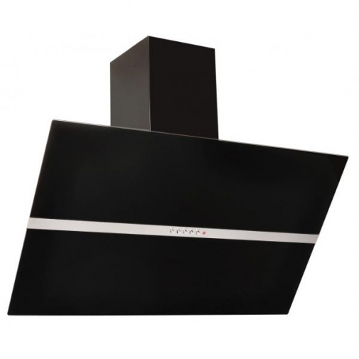 Cata Empire KD 319090 + DÁREK, Komínová digestoř šikmá 90cm, černá/černé sklo, 405m3/hod