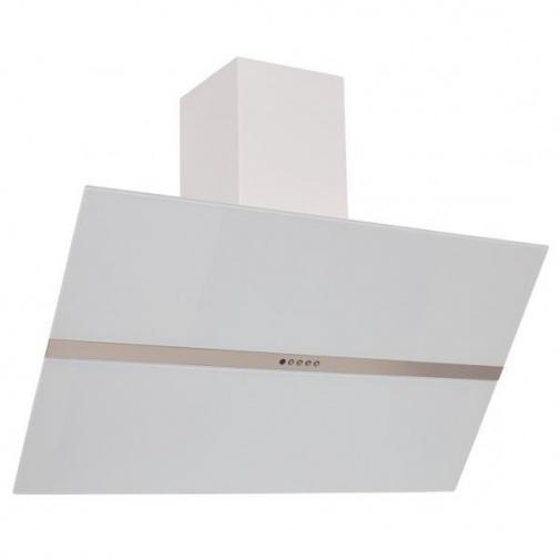 Cata Empire KDp 348090 + DÁREK, Komínová digestoř šikmá 90cm, bílá/bílé sklo