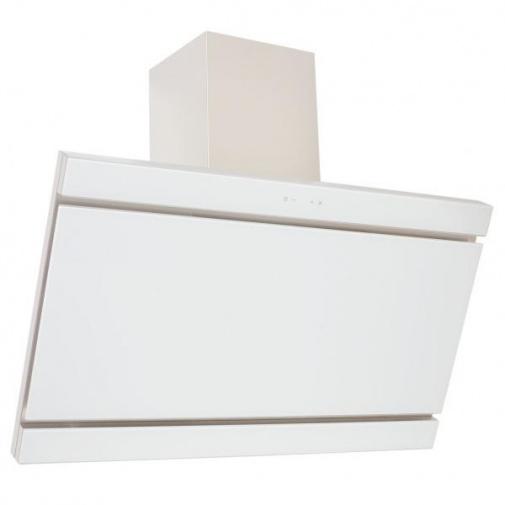Cata Empire VIP KD 529090 + AKCE%, Komínová digestoř šikmá 90cm, nerez/bílé sklo