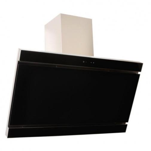 Cata Empire VIP KD 530090 + AKCE%, Komínová digestoř 90cm, nerez/černé sklo