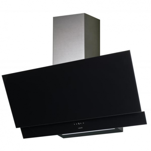 Cata JUNO A+ 600 + Dárek%, Digestoř komínová 60cm, černé sklo/nerez, 575m3/hod