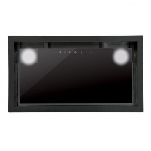 Cata GC DUAL 75 černá + AKCE%, Vestavná digestoř 90cm, černé sklo, 710m3/hod