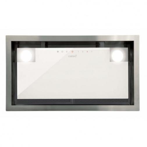 Cata GC DUAL 75 bílá + AKCE, Vestavná digestoř 90cm, bílé sklo