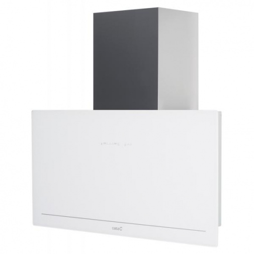 Cata GOYA A+ 700 bílá + Dárek%, Komínová digestoř 70cm, nerez/bílé sklo, 780m3/hod, 39dB