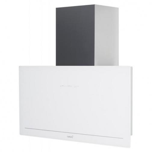 Cata GOYA A+ 900 bílá + Dárek%, Komínová digestoř 90cm, nerez/bílé sklo, 780m3/hod, 39dB