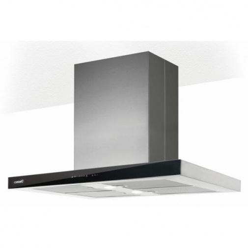CATA Isla Legend A+ 900 černá + AKCE%, Ostrůvková digestoř 90cm, nerez/černé sklo