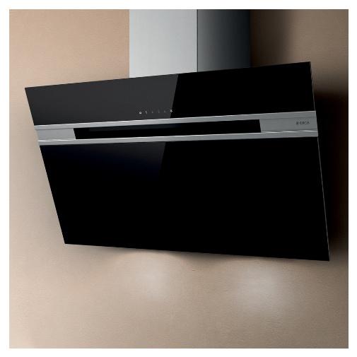 Elica Stripe Lux BL/A/90 + Dárek% a Záruka 5 let, Digestoř komínová šikmá 90cm, černé sklo
