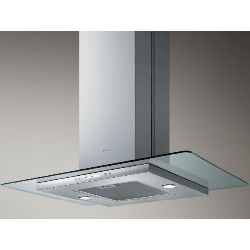 Elica Flat Glass Plus Island IX/A/90 + AKCE, Digestoř ostrůvková 90cm, nerez/sklo