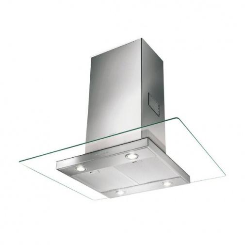 Faber Glassy Isola SP EV8 X/V A90 + AKCE a Záruka 5 LET, Digestoř ostrůvková 90cm, nerez/čiré sklo
