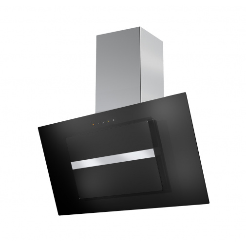 Faber Northia EV8 BK/X A90 + AKCE, Digestoř komínová šikmá 90cm, nerez/černé sklo