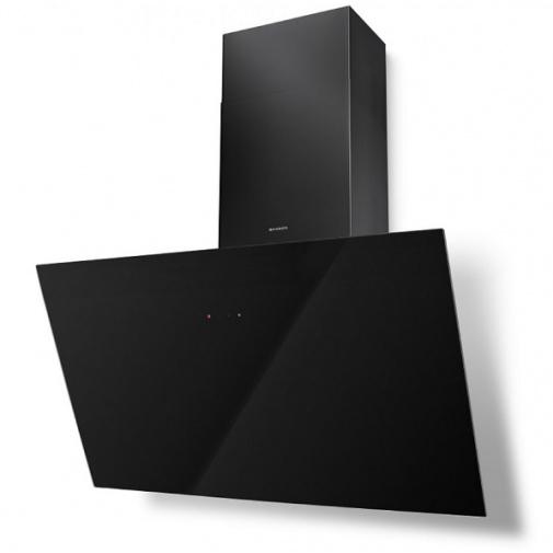 Faber Tweet EV8 BK A80 + Záruka 5 LET, Digestoř komínová šikmá 80cm, černá/černé sklo
