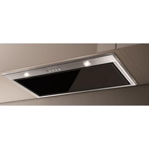 Faber Inca Lux Glass EV8 X/BK A70 + AKCE Záruka 5 let, Vestavná digestoř 70cm, nerez/černé sklo