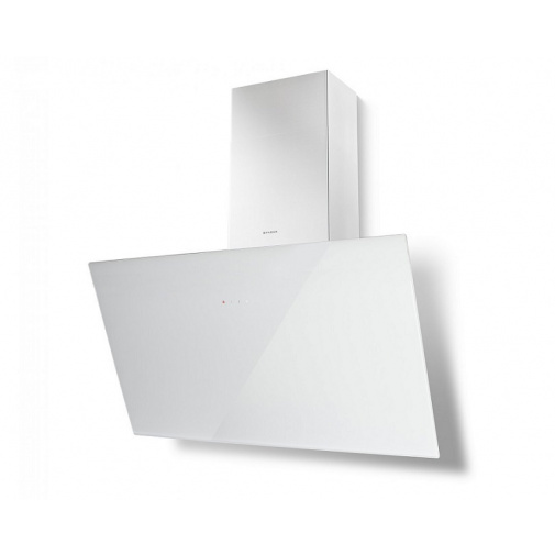 Faber Tweet EV8 WH A80 +AKCE Digestoř komínová 80 cm, bílá/bílé sklo