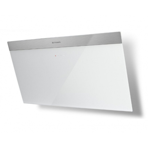Faber Daisy_B EG6 WH A80 + AKCE, Komínová digestoř nerez/bílé sklo, 80cm