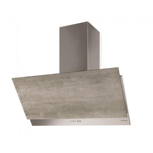Faber Grexia Gres LG/X A90 + AKCE Záruka 5 let, Komínová digestoř 90cm, nerez/světle šedá kamenina
