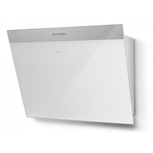Faber Daisy_B EG6 WH A55 + AKCE, Komínová digestoř nerez/bílé sklo, 55cm
