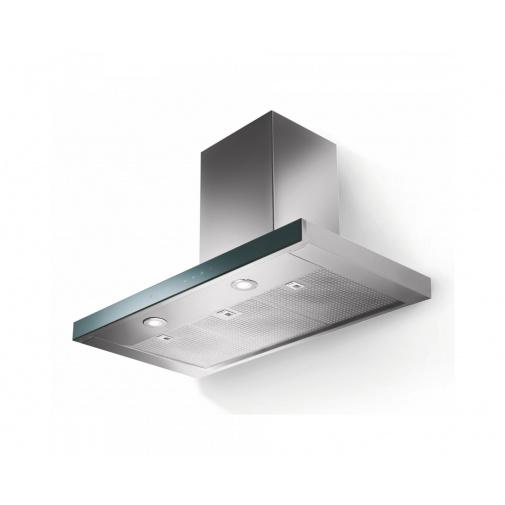 Faber LOOK PLUS BRS X/V A90 + AKCE, Komínová digestoř 90cm, nerez/černé sklo, 740m3/hod