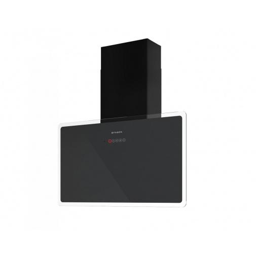 Faber GLAM-FIT GR A80 + AKCE, Komínová digestoř šikmá 80cm, černá/šedé sklo, 570m3/hod