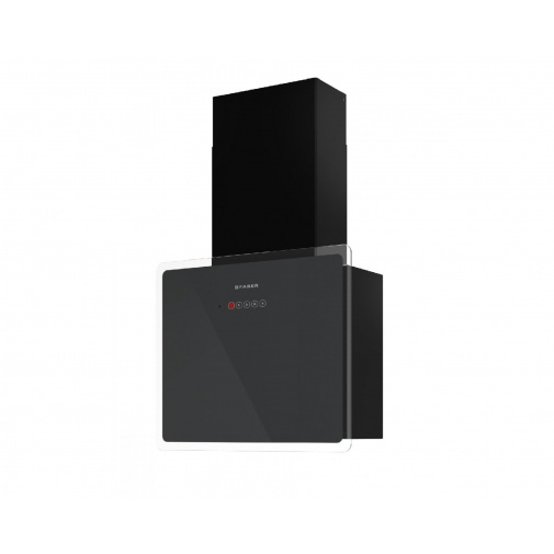 Faber GLAM-FIT GR A55 + AKCE Záruka 5 let, Digestoř komínová šikmá 55cm, černá/šedé sklo